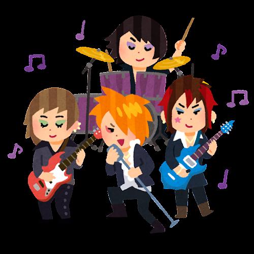 ビジュアル系バンドのイラスト