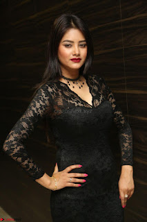 Actress Monica in spicy transparent Black Top at O Pilla Nee Valla Movie Audio Launch Feb 2017 055.JPG