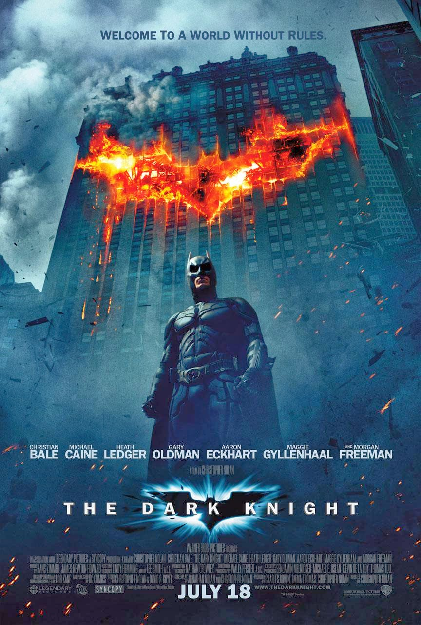 The Dark Knight theatrical poster featuring Batman