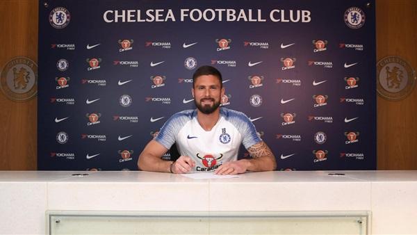 أوليفيه جيرو يمدد تعاقده مع نادي تشيلسى الإنجليزي لمدة موسم واحد