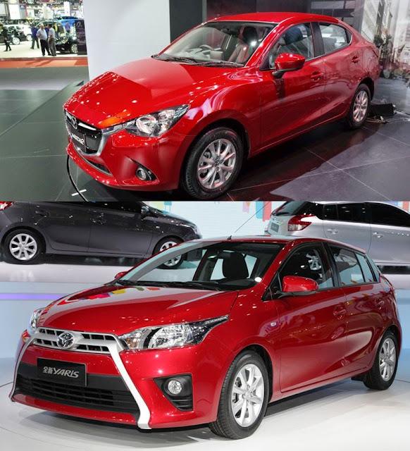 Đợi mua Mazda 2 2015 hay Toyota Yaris ?