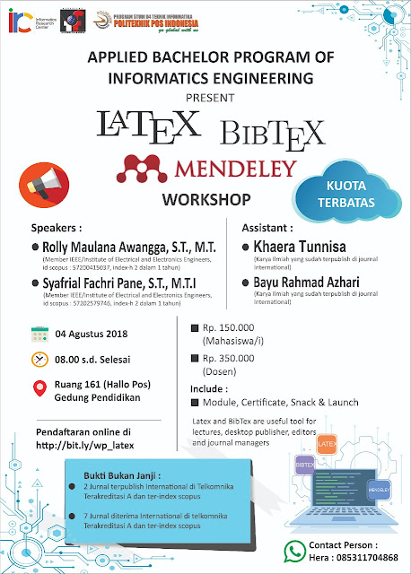 Workshop Latex, Bibtext dan Madeley