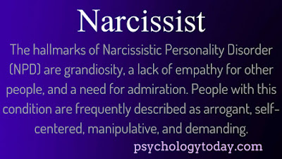 narcissist, narcissism, abusive, definition