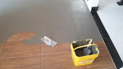 preparo massa pva nivelar piso cerâmico instalar piso vinílico