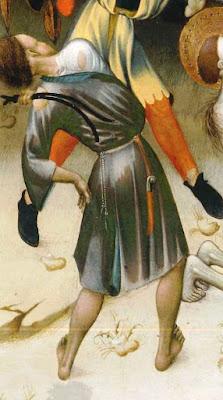 flagelacion azote latigo medieval tortura correa cuero bernat martorell sant jordi san jorge