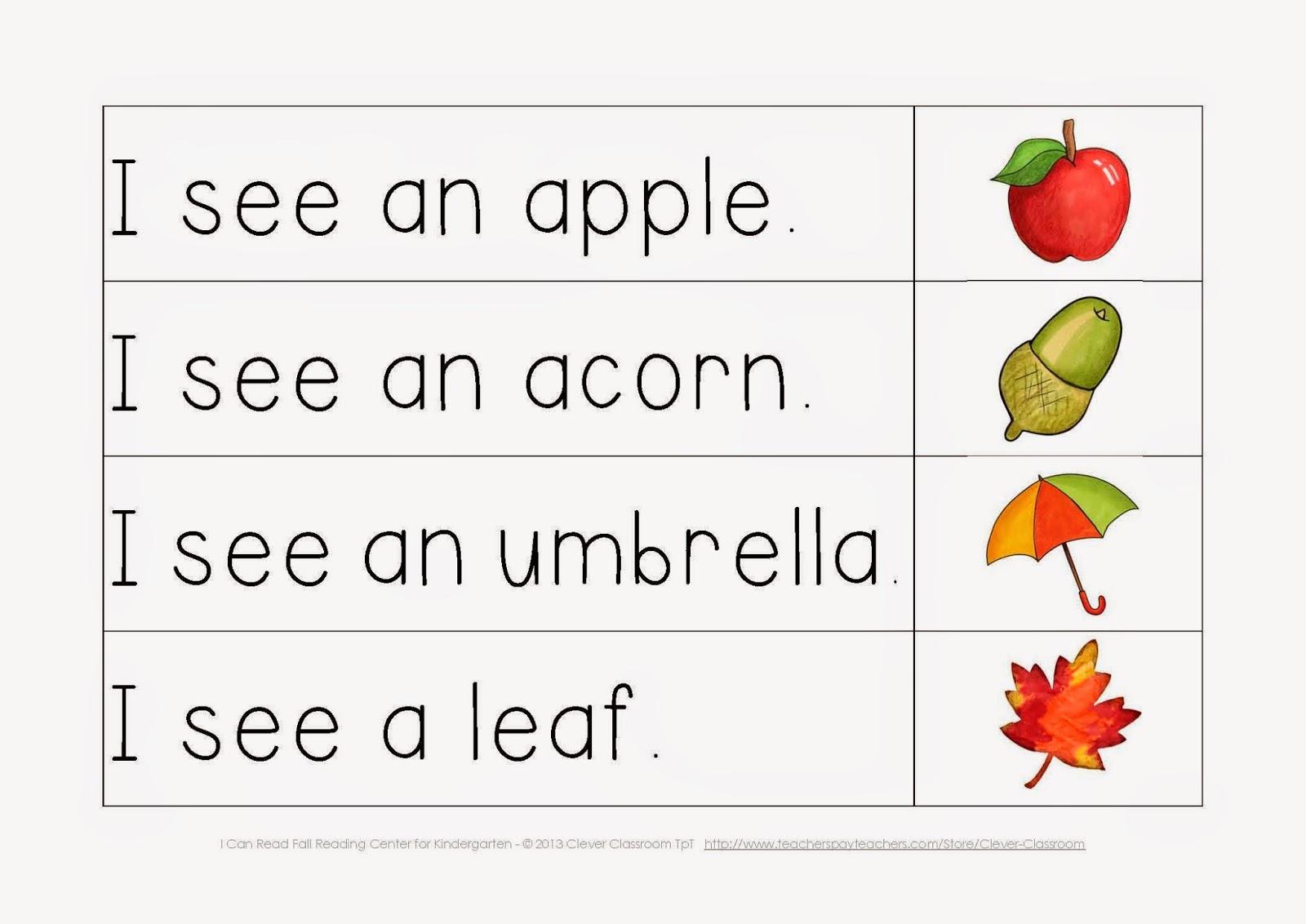 Read Simple Sentences For Kindergarten Worksheets Read