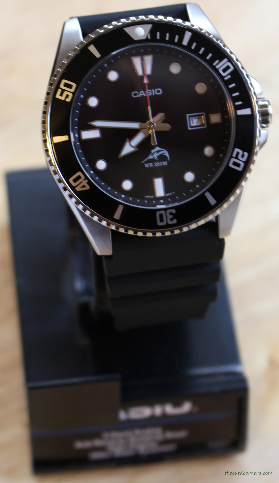 Casio MDV106-1A Diver's Watch On Stand