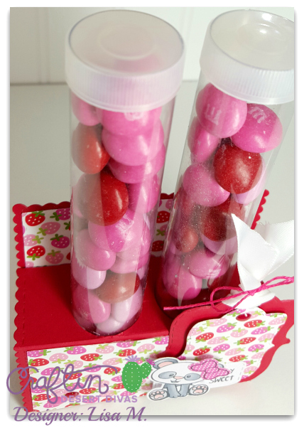 This is an image of Tube Candy Holder made using Craftin Desert Divas Products