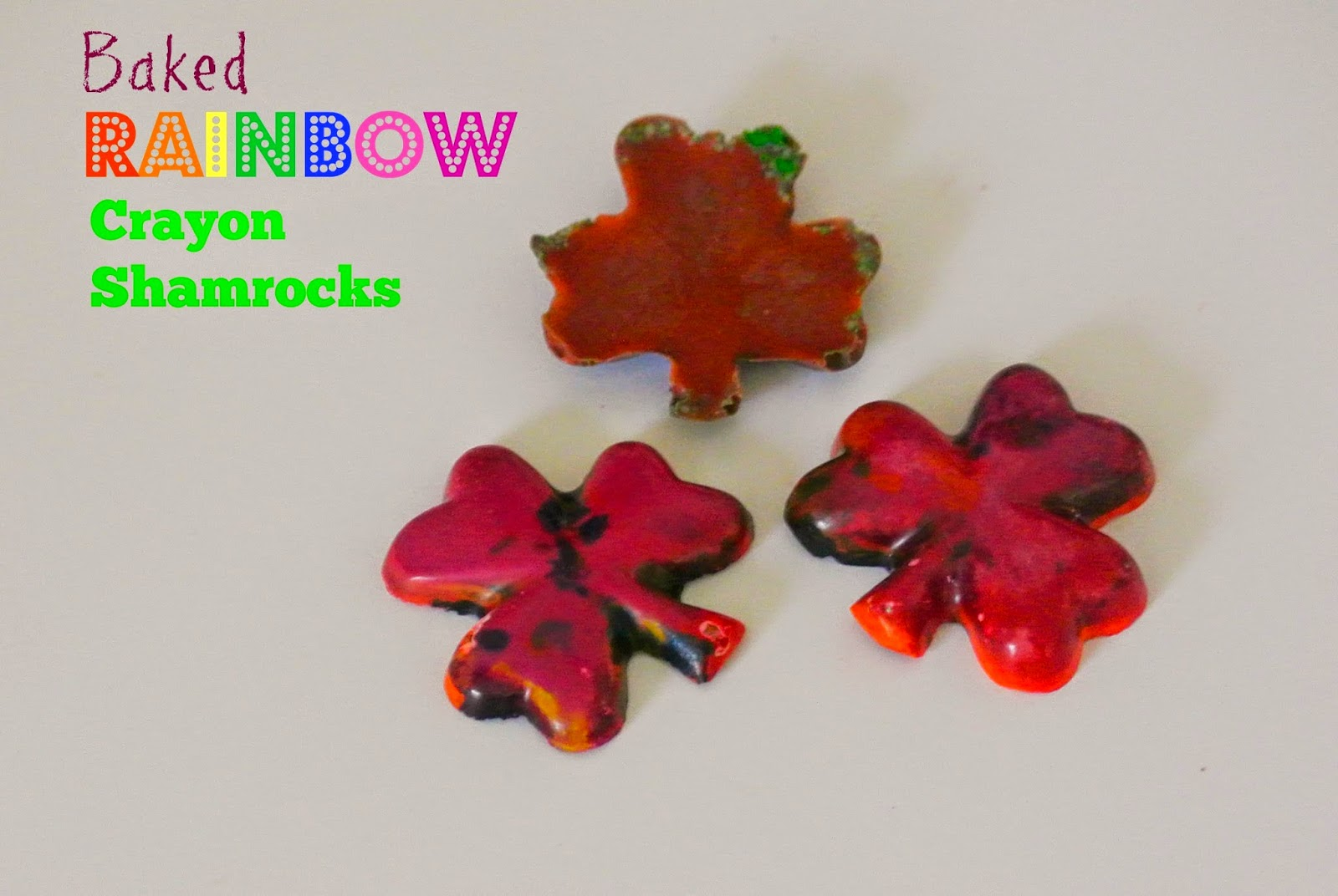Shamrock, Baked Crayons, Art