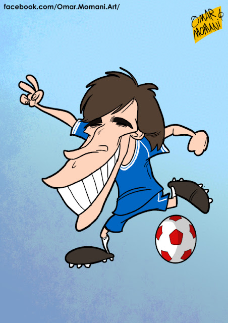 Gianfranco Zola cartoon caricature