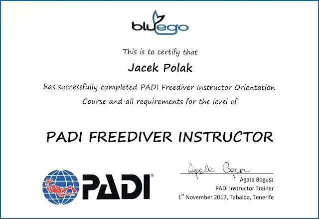 Kursy Freedivingu PADI, PADI Basic Freedivier, PADI Freediver - Jacek Polak, Kraków