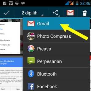 Cara mengirim Foto melalui Email di Android