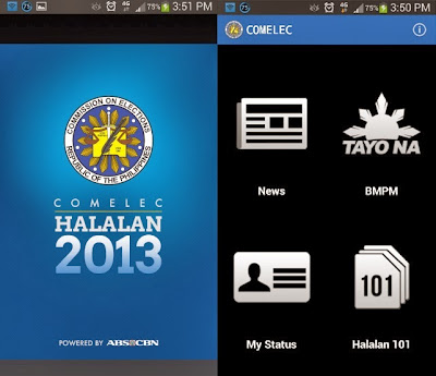 ABS-CBN updates COMELEC Halalan app for 2013 Barangay Elections