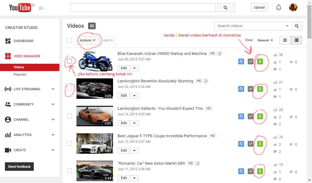 Image result for cara mendapatkan uang dari youtube