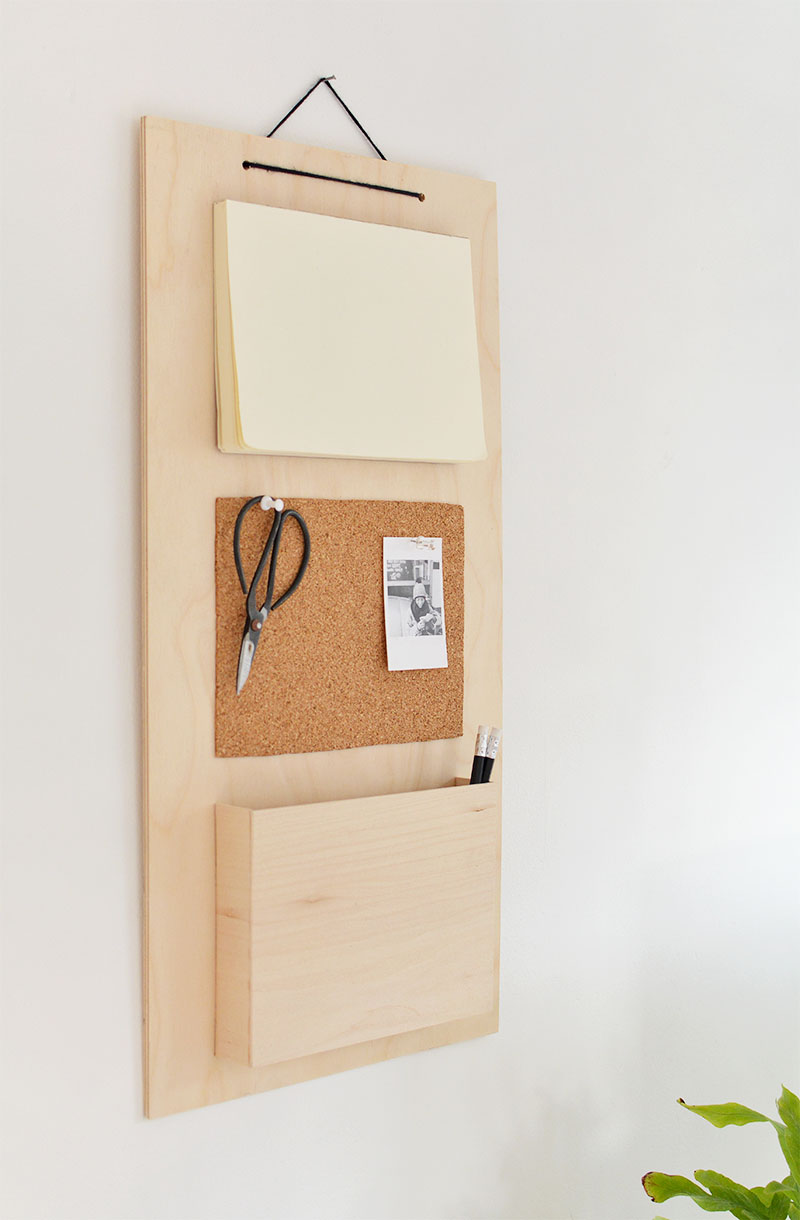 hanging wall organiser DIY