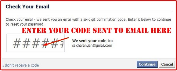 Six Digit Confirmation Code For Facebook