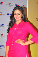 Sree Mukhi in Pink Kurti looks beautiful at Meet and Greet Session at Max Store (22).JPG