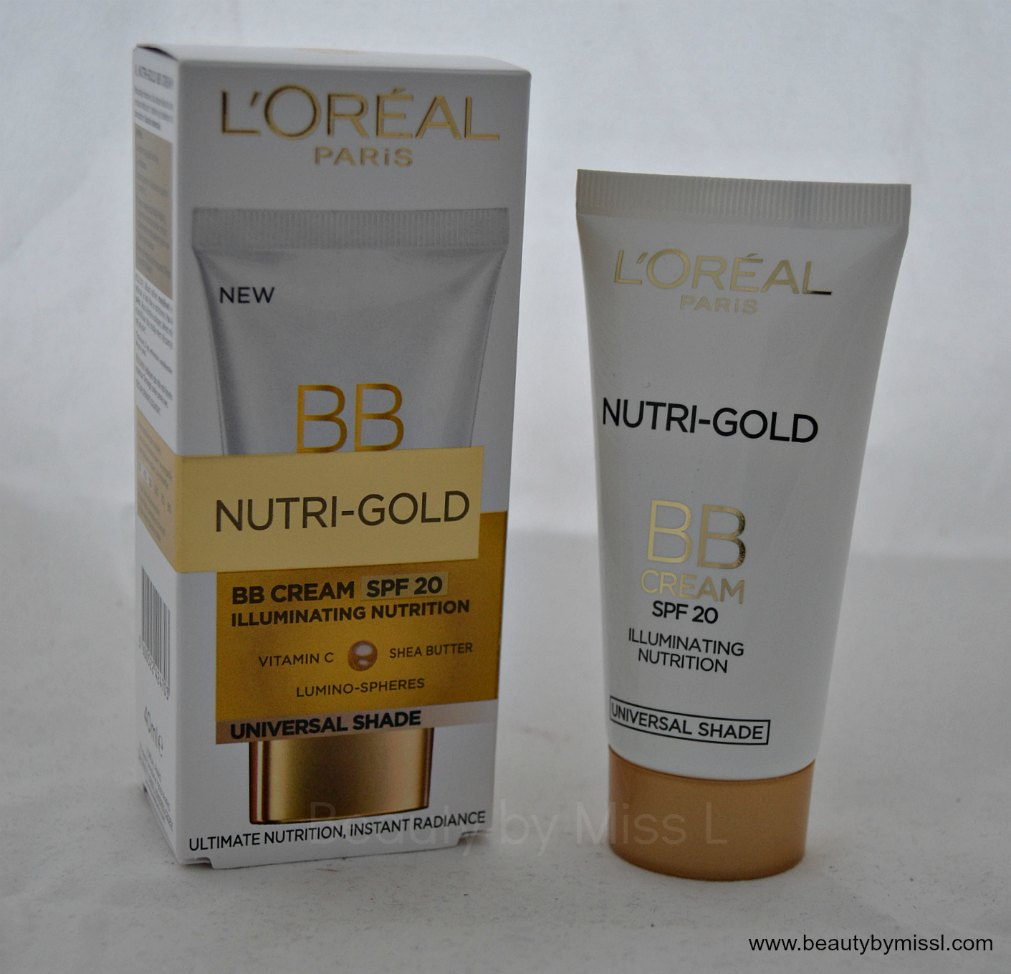 L´Oreal Nutri Gold BB Cream SPF20 review & swatches