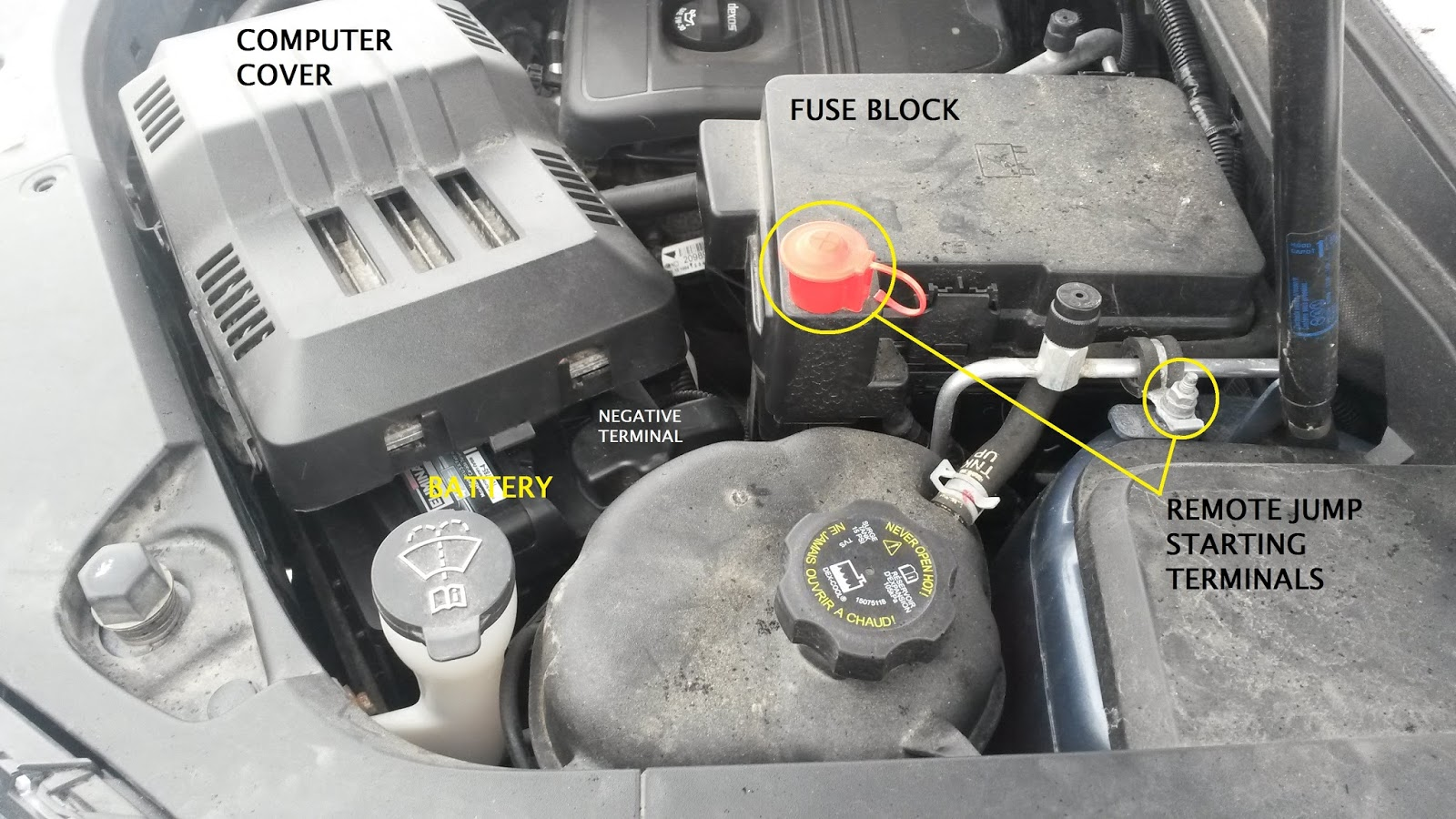 Removing 2005 Chevy Equinox Battery 2012 Traverse Fuse Box Removal