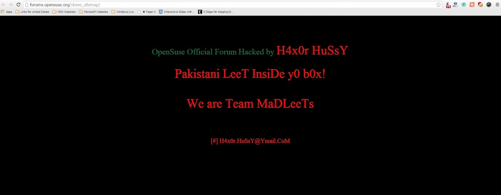 OpenSUSE forums hacked in Another vBulletin attack - Cyber Kendra