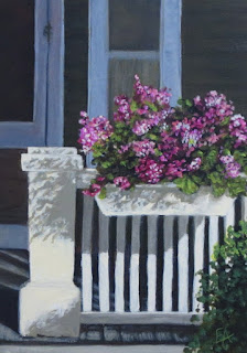 front porch flower box