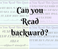 Can you take this backward reading challenge?