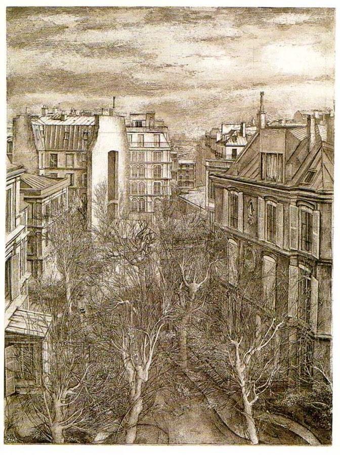 13-Paris-11-boulevard-de-Clichy-Erik-Desmazières-Architectural-Etching-and-Pencil-Drawings-www-designstack-co