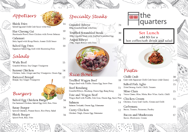 the quarters singapore menu
