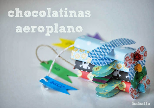 cómo hacer chocolatinas con forma de avión