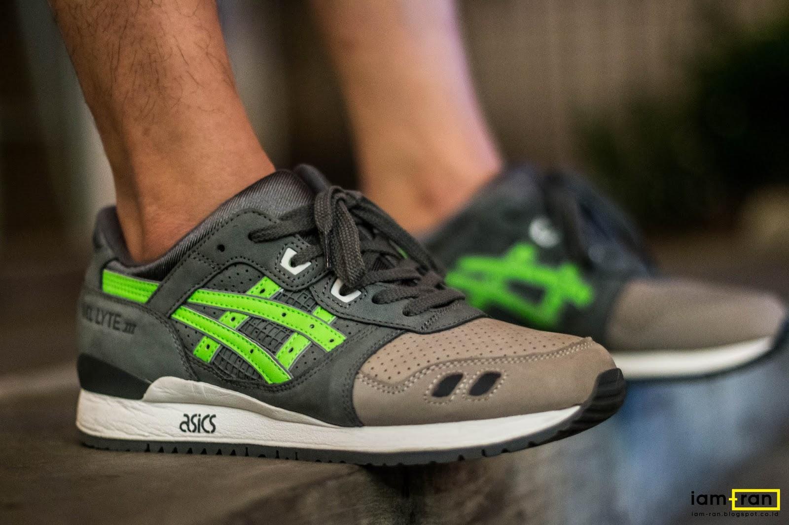 Ronnie Fieg x ASICS Gel Lyte 3.1 Super Green On Feet
