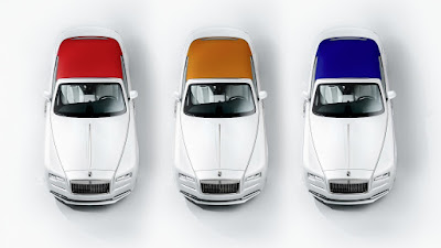 Rolls-Royce Dawn Fashion Inspired special edition three color hood