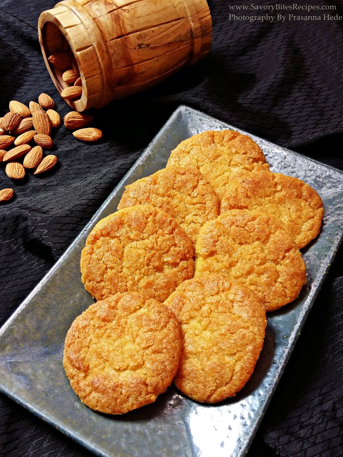 Eggless Almond Coconut Cookies Tea-time snack