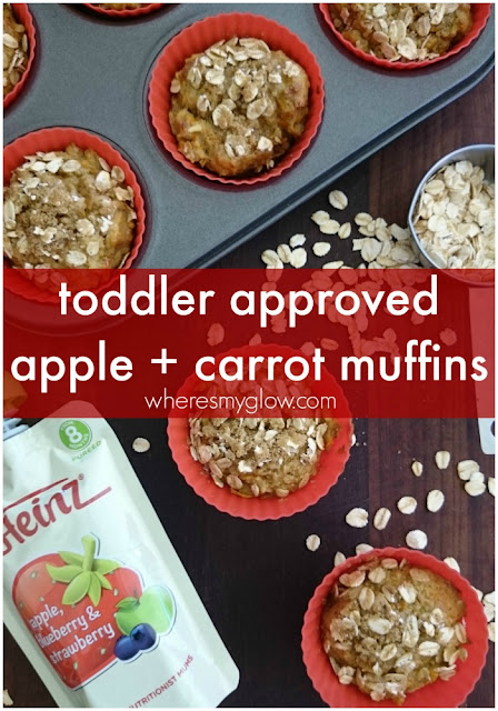 Where's My Glow? : Carrot + apple muffins - toddler approved!