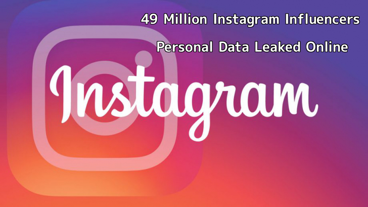 49 Million Instagram Influencers, Celebrities Personal Data Leaked Online  - zpPqo1558443585 - 49 Million Instagram Influencers, Celebrities Personal Data Leaked Online