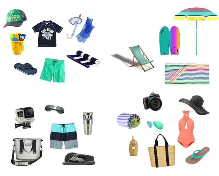 Hall Around Texas Beach Packing List