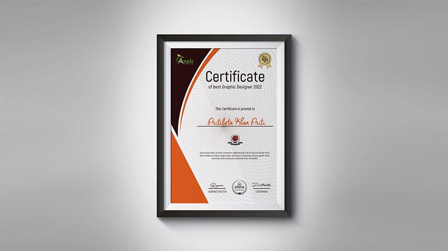 Creative Certificate Template Design Photoshop Cc Tutorial Apple