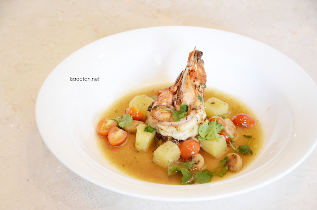 Grilled King Prawn with Olive Oil
