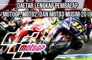 Daftar-Lengkap-line-up-Nama-Pembalap-seri-MotoGP-Moto2-dan-Moto3-Musim-2018