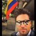 David Bustamante confundió la bandera de Colombia con la de Venezuela