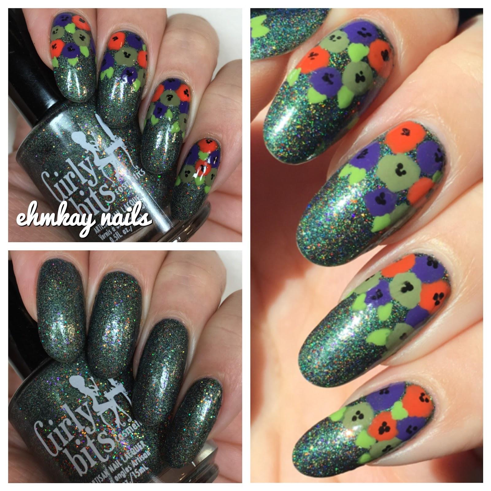 Ehmkay Nails Halloween Nail Art Girly Bits Abracapocus With