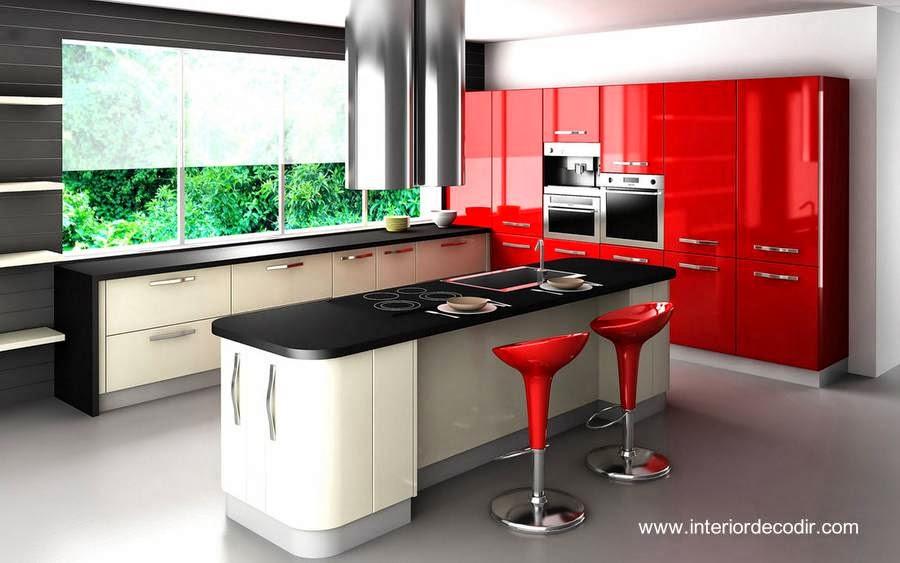 Mobiliario de cocina moderna diseño contemporáneo