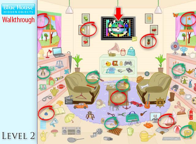 Blue House Hidden Objects Level 2
