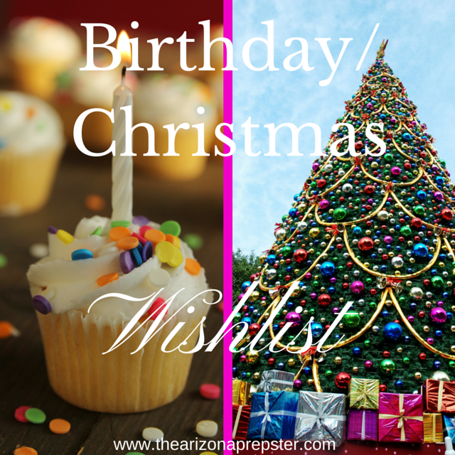 Birthday/Holiday Wishlist