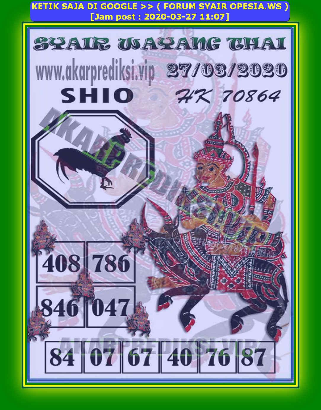 Kode syair Hongkong Jumat 27 Maret 2020 211