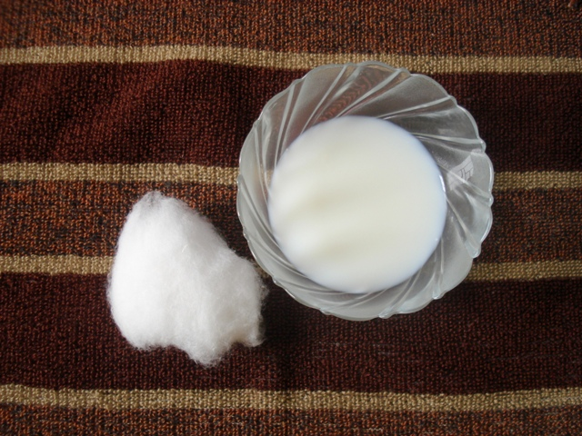 If you dont have cleanser use cotton ball dipped in milk to remove makeup