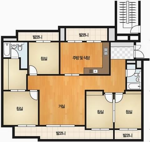 Seoul apartment floor plan latest bestapartment 2018 for 4 bedroom luxury apartment floor plans