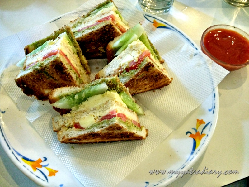 Vegetable Sandwich at Vaishali in Pune