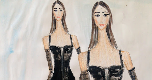 FASHION ILLUSTRATION FRIDAY: ILLUSTRATING A BLACK DRESS FROM DOLCE & GABBANA AUTUMN COLLECTION