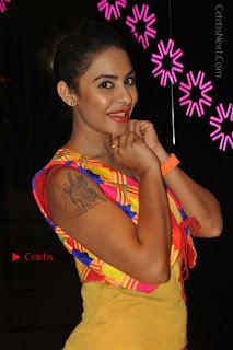 Telugu Actress Model Sri Reddy Latest Stills in Yellow Dress  0030.JPG
