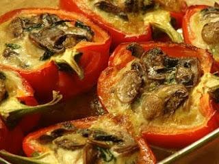 рецепт фаршированного перца с грибами и шпинатом